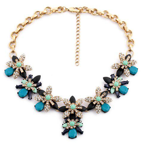 Women's Rhinestone Flower Classic Necklace - COLORMIX