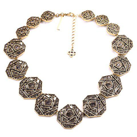 Stylish Women's Beads Inlaid Square Necklace - COLOR ASSORTED