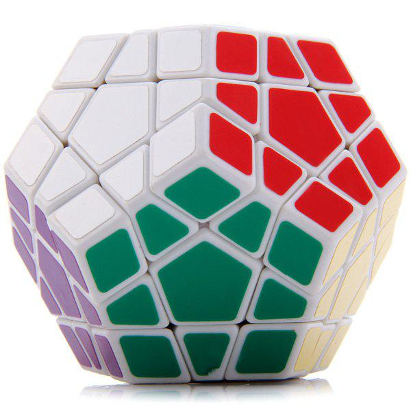 Shengshou Megaminx Dodecahedron Magic Cube Brain TeaserHome<br><br><br>Color: WHITE