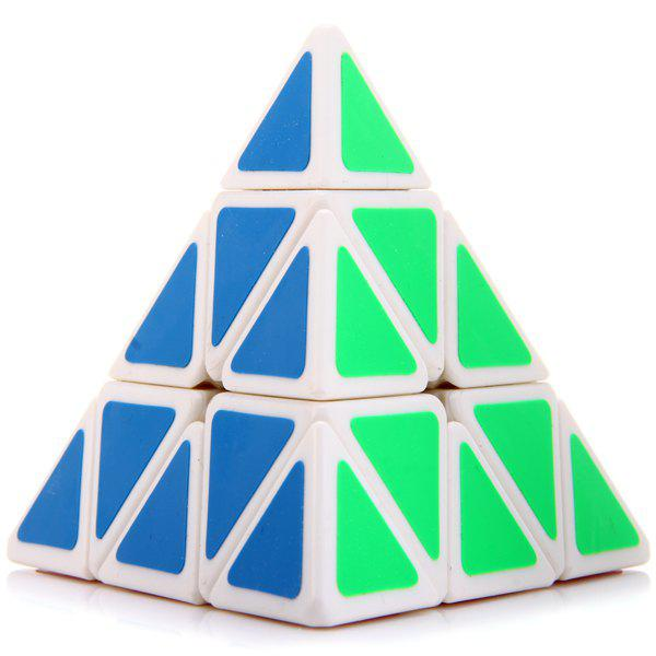 MoYu Creative Pyraminx Magic Speed ​​Cube Educational Toy - Blanc