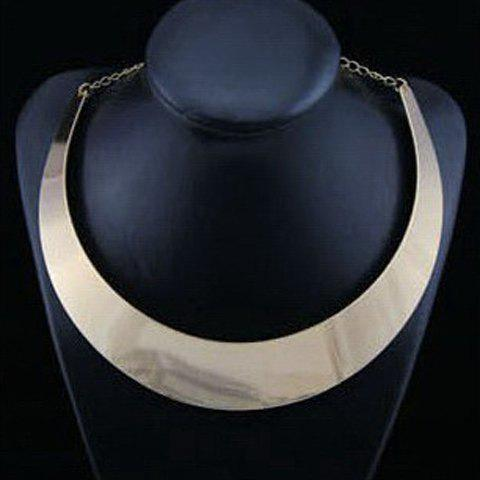 Simple Ringlike Pendant Alloy Necklace For Women - AS THE PICTURE