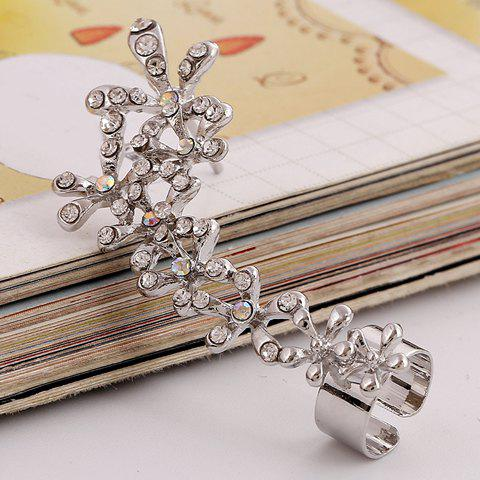 ONE PIECE Delicate Women's Rhinestone Flower Earring