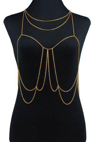 Stylish Chic Women's Link Layered Body Chain - GOLDEN