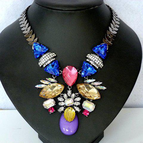 Beads Floral Necklace - AS THE PICTURE