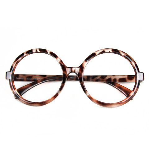 Fashionable Leopard Style Circular Glasses Frame Decors for Women - LEOPARD