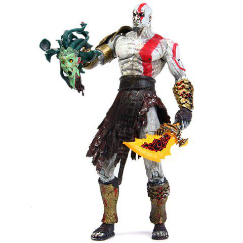 God of War Kratos in Golden Fleece Armor with Medusa Head 19cm PVC Action Figure Collection Model Toy - AS THE PICTURE