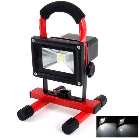 YouOKLight 10W 850Lm 6000K Rechargeable Working LED Flood Light 110 - 240V - RED/BLACK