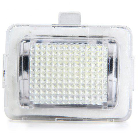 JHBK040 SMD 3528 White Light 18 LEDs License Plate Lamp for Benz W204 C207 W211 - 2pcs - WHITE
