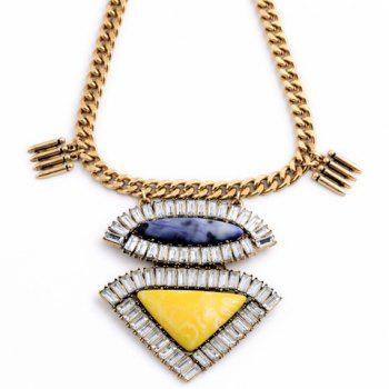 Stylish Hyperbolic Women's Beads Geometric Necklace - AS THE PICTURE