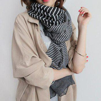 Chic Various Stripes Pattern Color Block Women's Scarf