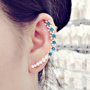 ONE PIECE Floral Rhinestone Decorated Ear Cuff