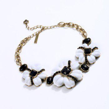 Flower Rhinestone Decorated Chic Necklace For Women