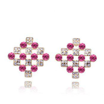 Pair of Stylish Rhinestone Inlaid Women's Earrings