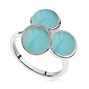 Stylish Faux Opal Inlaid Floral Shape Women's Ring