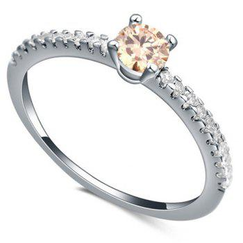 Sweet Zircon Inlaid Ring For Women - CHAMPAGNE ONE-SIZE