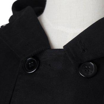 Fashion Large Hooded Slimming Solid Color Pocket Embellished Long Sleeves Men's Coat - L L