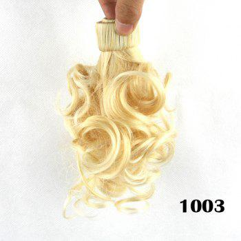 Cute Fluffy Blonde Short Wave Heat Resistant Women's Synthetic Ponytail
