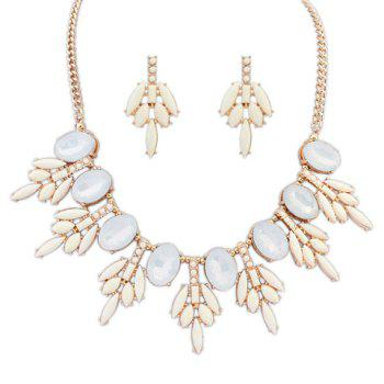 Simple Floral Alloy Women's Necklace and a Pair of Earrings