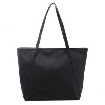 Elegant Solid Color and PU Leather Design Shoulder Bag For Women