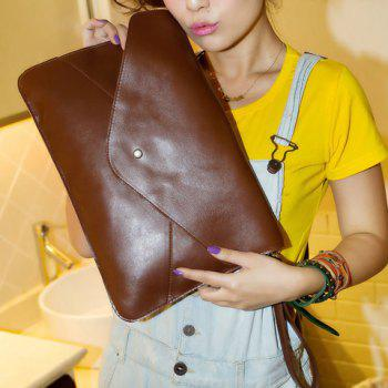 Fashionable Rivet and Envelop Design Clutch Bag For Women - COFFEE COFFEE