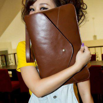 Fashionable Rivet and Envelop Design Clutch Bag For Women -  COFFEE