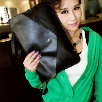 Fashionable Rivet and Envelop Design Clutch Bag For Women - BLACK BLACK