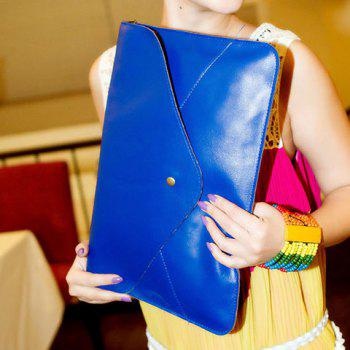 Fashionable Rivet and Envelop Design Clutch Bag For Women - BLUE BLUE