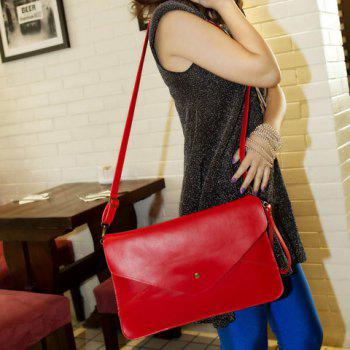 Fashionable Rivet and Envelop Design Clutch Bag For Women -  RED