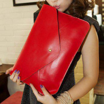 Fashionable Rivet and Envelop Design Clutch Bag For Women - RED RED
