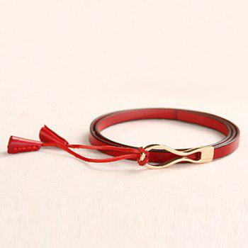 Chic Kink and Pendant Design Women's Slender Belt