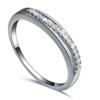 Simple Zircon Decorated Women's Ring
