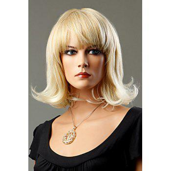 Casual Ash Blonde Synthetic Short Curly Wig For Women