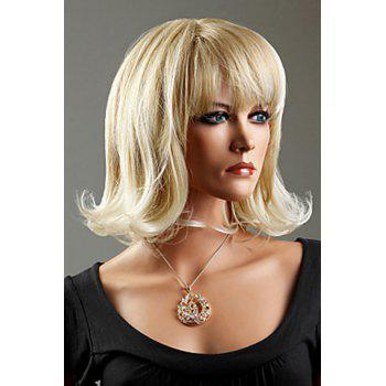 Casual Ash Blonde Synthetic Short Curly Wig For Women -  COLORMIX