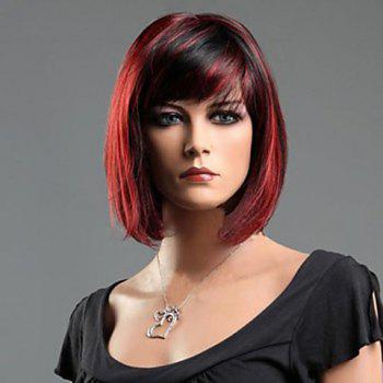 Charming Short Straight Synthetic Wig With Side Bang For Women - COLORMIX COLORMIX