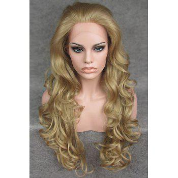 Vogue Long Deep Wavy Fluffy Ash Blonde Heat Resistant Women's Synthetic Wig
