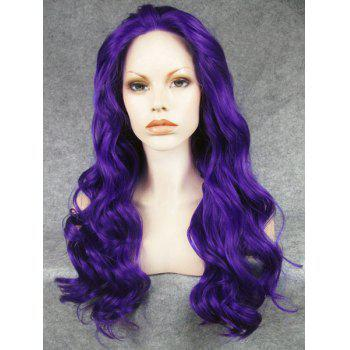 Trendy Fluffy Stunning Deep Purple Long Wavy Heat Resistant Synthetic Women's Wig
