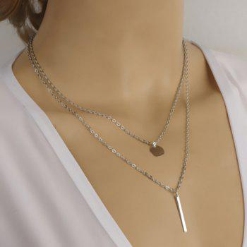Round Stick Pendant Necklace - SILVER SILVER