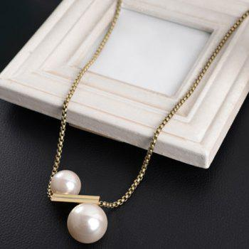 Round Faux Pearl Sweater Chain