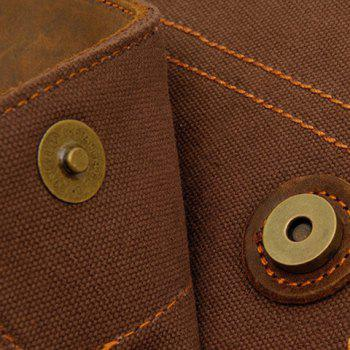 Fashionable Rivets and Stitching Design Messenger Bag For Men -  KHAKI