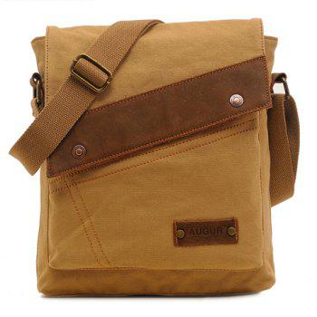 Fashionable Rivets and Stitching Design Messenger Bag For Men - KHAKI KHAKI