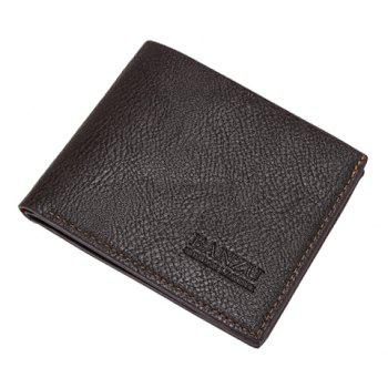 Simple Style Solid Color and PU Leather Design Wallet For Men
