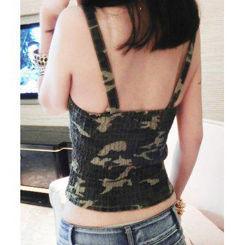 Sexy Camo Zippered Dancewear For Women - GREEN ONE SIZE(FIT SIZE XS TO M)
