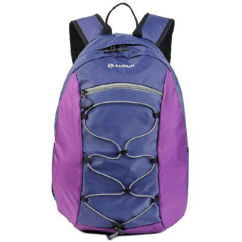 Fashionable String and Zipper Design Backpack For Men - PURPLE