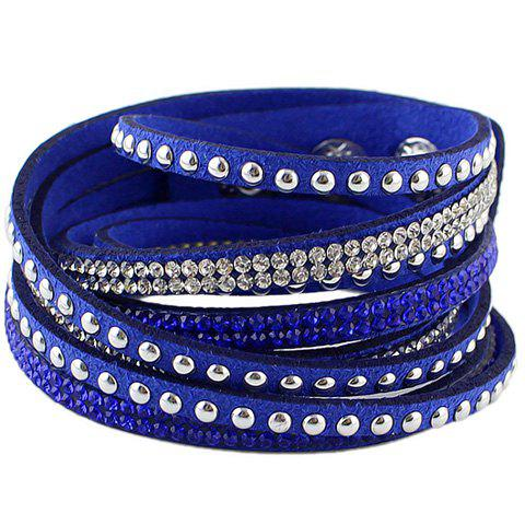 Rivet Faux Leather Layered Bracelet