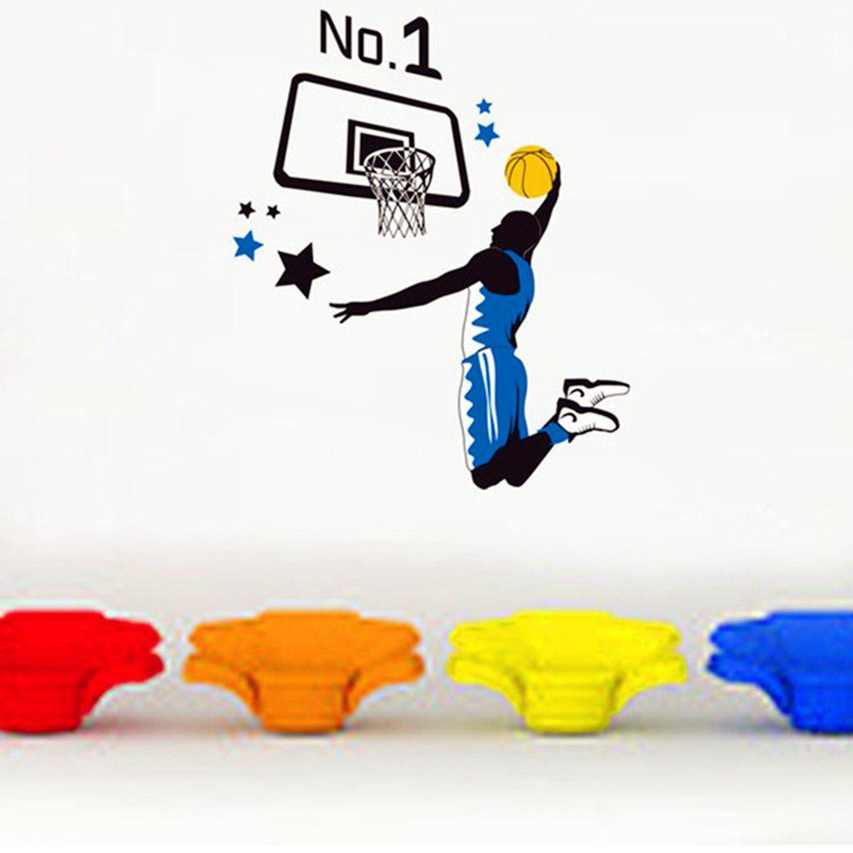 Slam Dunk Sports Style Wall Sticker Home Appliances Decor