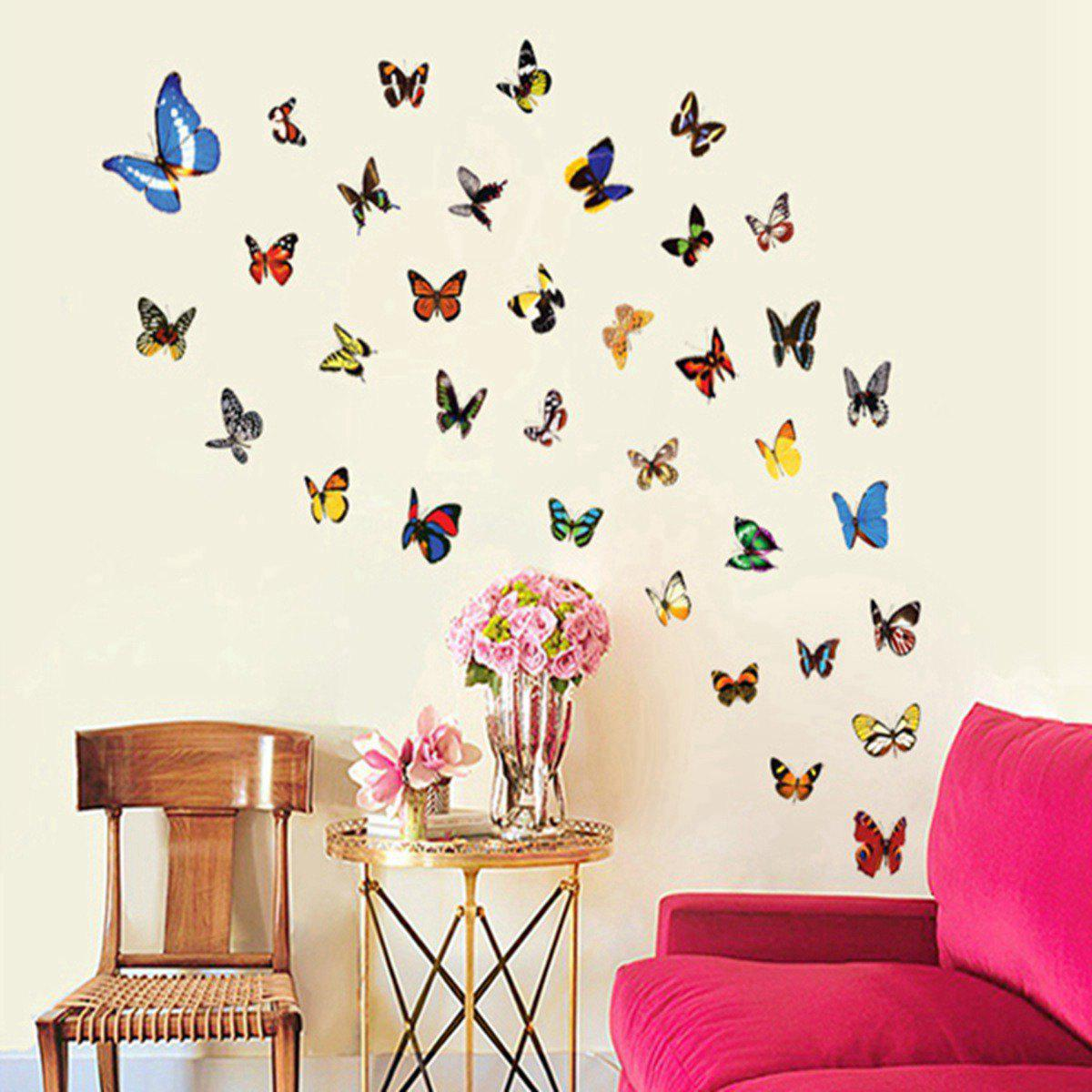 Colorful Butterfly Style Wall Sticker Home Appliances