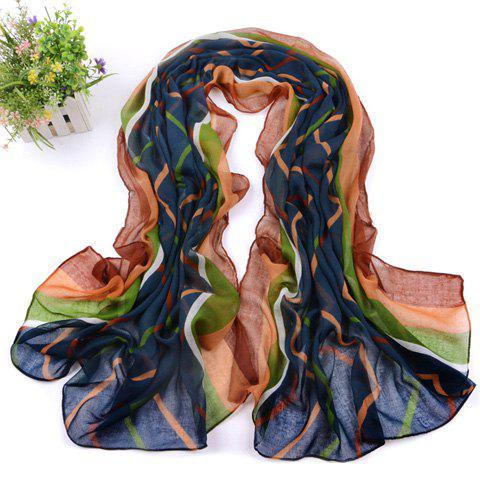Retro Stylish Stripe Print Scarf For Women - COLOR ASSORTED