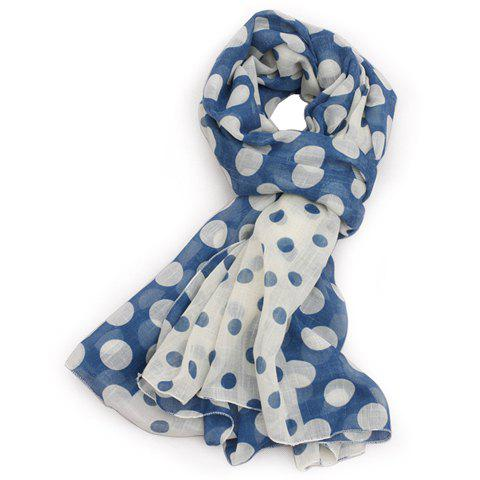 Chic Polka Dot Print Color Block Scarf For Women