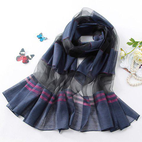 Chic Yarn Splice and Stripe Pattern Design Women's Scarf - RANDOM COLOR