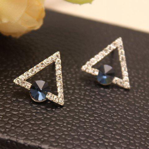 Pair of Cute Rhinestone Decorated Geometric Women's Earrings - RANDOM COLOR